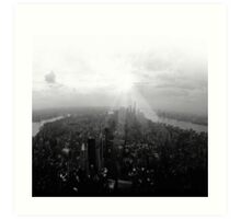 New York City in Black and White Art Print