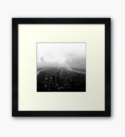 New York City in Black and White Framed Print