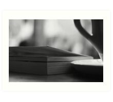 Coffee and a Book. Art Print