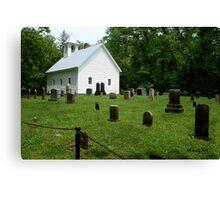 Cemetery at Cades Cove Primitive Baptist Church  Canvas Print