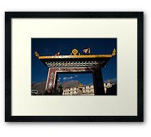 Kungri Monastery Gate Framed Print
