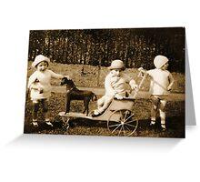 Children 1930 Greeting Card
