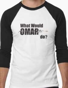 "What Would Omar Do? ""The Wire"" Men's Baseball ¾ T-Shirt"