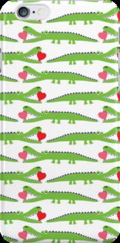 Alligator Love  3G  4G  4s iPhone case by Andi Bird