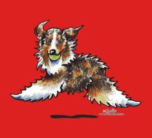 Red Merle Australian Shepherd Let's Play Baby Tee