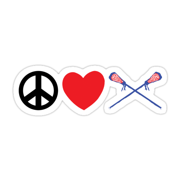 Peace Love Lacrosse by SportsT-Shirts