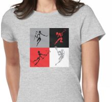 Lacrosse Abstract Womens Fitted T-Shirt