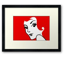 Miss Redhead [iPhone / iPad / iPod case / Tshirt / Print] Framed Print