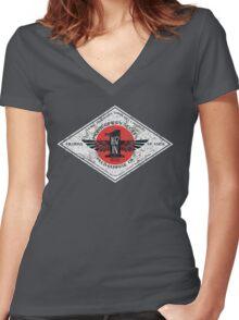 Montgomery Scott's 107-in-1 Brand Multipurpose Oil Women's Fitted V-Neck T-Shirt