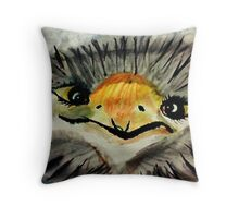 Excuse me for staring back at you,  are we having a bad hair day? watercolor Throw Pillow