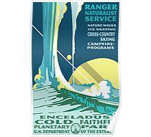Enceladus Planetary Park Poster Poster