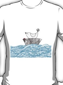 Bird and a Bug on a Boat T-Shirt