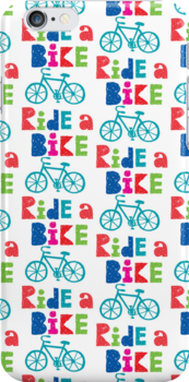 Ride a Bike Sketchy white 3G  4G  4s iPhone case   by Andi Bird