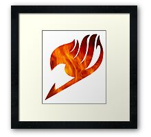 Fairy Tail Logo Fire Framed Print