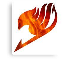 Fairy Tail Logo Fire Canvas Print