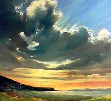 Late evening over Dugort by Roman Burgan