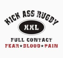 "Rugby ""Kick Ass Rugby Full Contact"" by SportsT-Shirts"