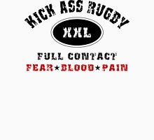"Rugby ""Kick Ass Rugby Full Contact"" Unisex T-Shirt"