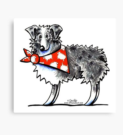 AUSSIE-M Shepherd Canvas Print