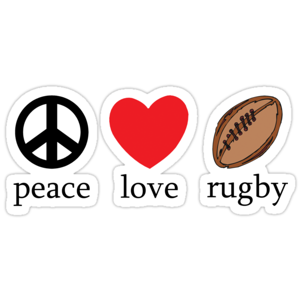"""Rugby """"Peace Love Rugby"""" by SportsT-Shirts"""