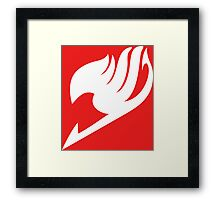 Fairy Tail Logo white Framed Print
