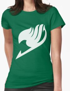 Fairy Tail Logo white Womens Fitted T-Shirt