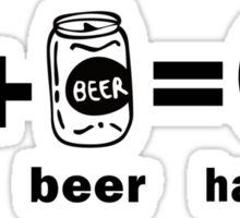 Rugby + Beer = Happiness Sticker