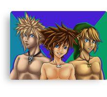 Blue-eyed Gamerboyz Canvas Print