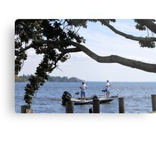 Just Fishing Metal Print