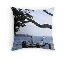 Just Fishing Throw Pillow
