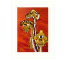 CAMEL FAMILY Art Print