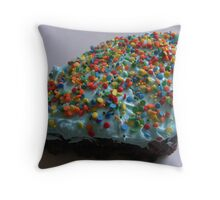 BLUE VANILLA Throw Pillow
