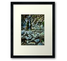 Waterfall and Rocks Framed Print