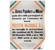 La Banca popolare di Milano prestito nazionale 5 Poster