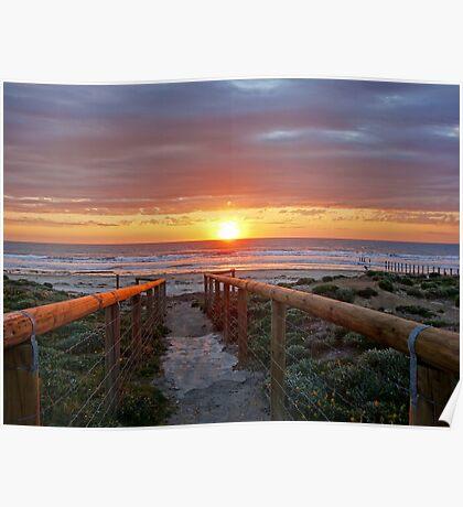 Aldinga Silver Sands Beach (Sunset) Poster