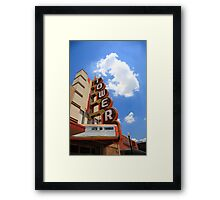 Route 66 - Tower Theater Framed Print