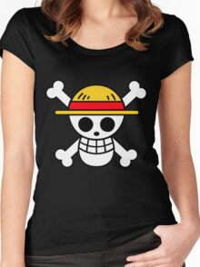 Straw Hat Pirates Logo Women's Fitted Scoop T-Shirt