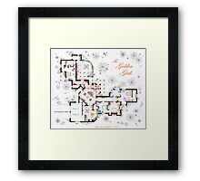 The Golden Girls House floorplan v.1 Framed Print