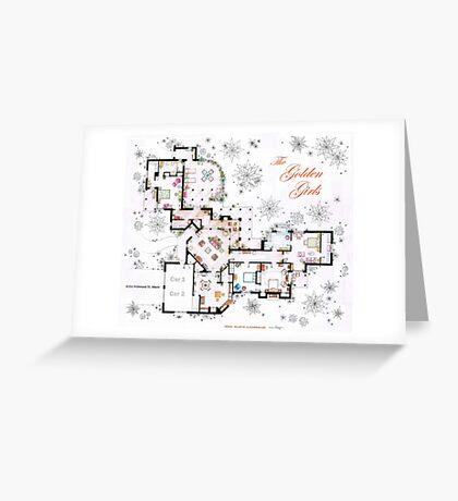 The Golden Girls House floorplan v.1 Greeting Card