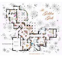 The Golden Girls House floorplan v.2 Photographic Print