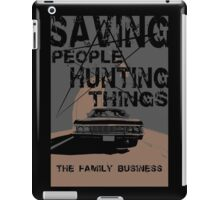 supernatural:saving people hunting things iPad Case/Skin