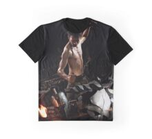 Hammering iron on an anvil. Graphic T-Shirt