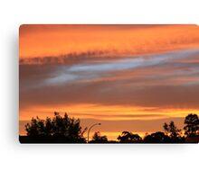 Sunset over Goulburn Canvas Print