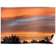Sunset over Goulburn Poster