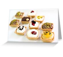 Tartelettes (smal tarts) various flavours  Greeting Card