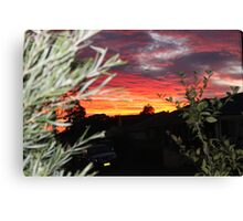 Goulburn Sunset Canvas Print