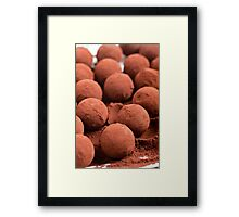 Chocolate truffles with cocoa powder  Framed Print
