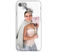 steampunk woman on white  iPhone Case/Skin