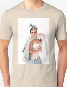 steampunk woman on white  T-Shirt