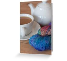 Tea and Yarn Greeting Card